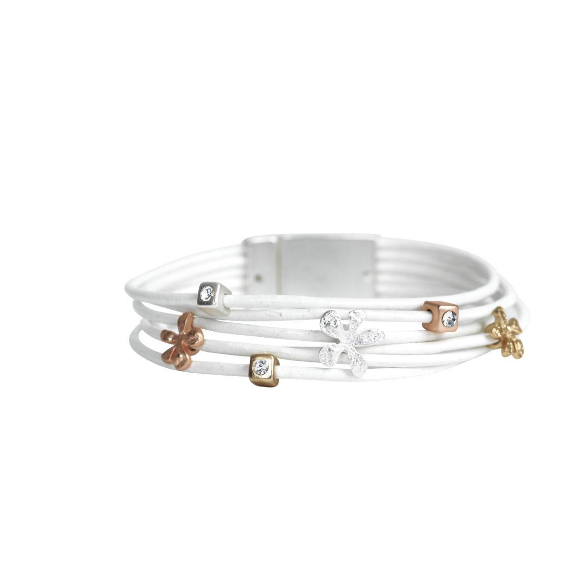 Armband April white