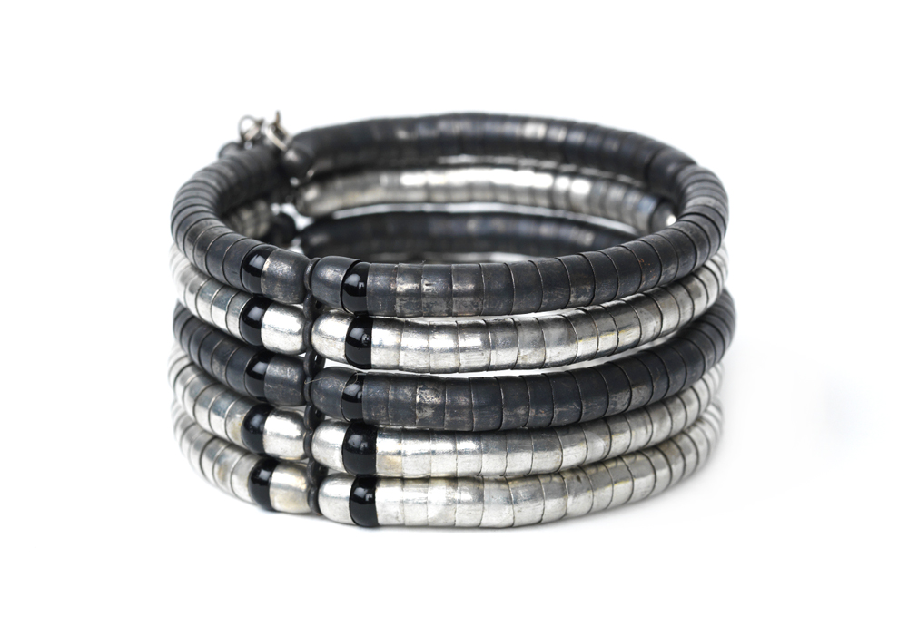 Armband Lou Silber/Schwarz