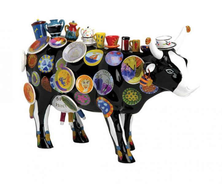 Cowparade The Moo Potter Medium Resin