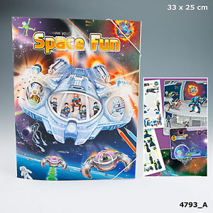 Create your space fun Malbuch