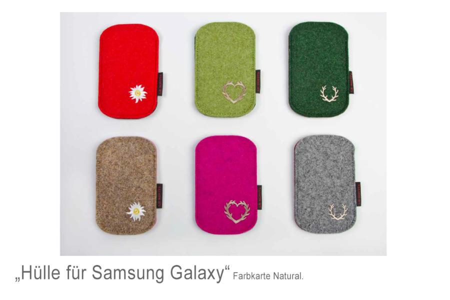 Handyhülle Filz für Samsung Galaxy
