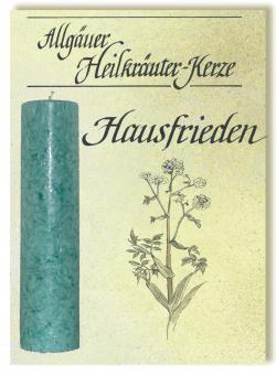 Allgäuer Heilkräuterkerze - Hausfrieden