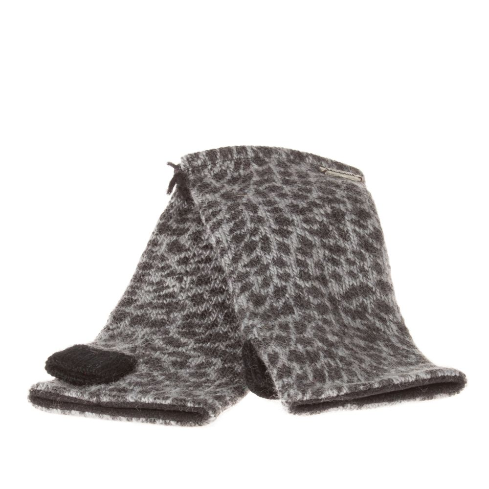 Handwarmers Animal Print Charcoal