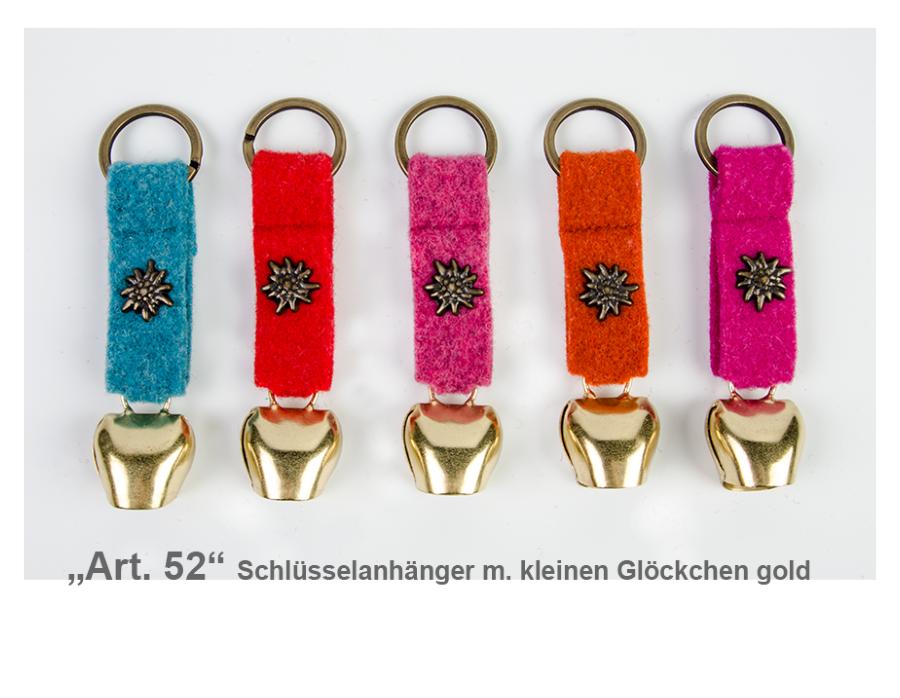 Schlüsselanhänger Filz mit Glöckchen