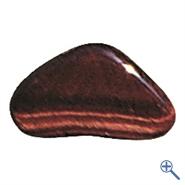 Trommelstein Tigerauge rot