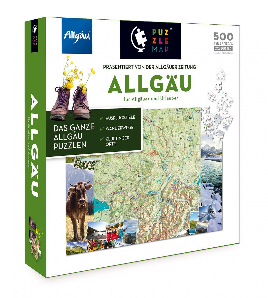 Allgäu Puzzle Map
